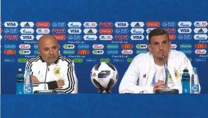 Jorge Sampaoli y Franco Armani dialogaron con los medios de comunicación a un día del encuentro ante Nigeria.