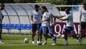 Luego de su debut en la Copa Mundial, el conjunto comandado por Jorge Sampaoli se entrenó en Bronnitsy.