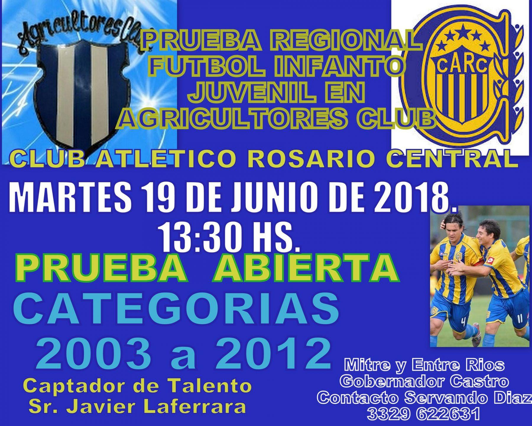 Nueva prueba de jugadores: Rosario Central lo hace en Gobernador Castro