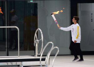 Cittadini comenzó con el relevo de la llama olímpica de la juventud. Mirá el video!