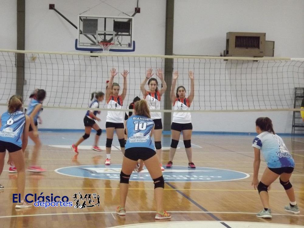 Voley femenino de Náutico jugó como local ante Regatas de San Nicolás