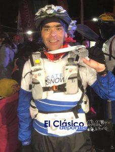 D'Andrea en la maratón de 12k en el Cerro Catedral de Bariloche