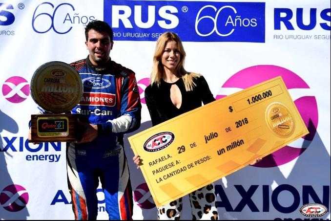 "Lambiris ganó en Rafaela la ""Carrera del Millón"""