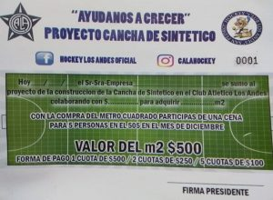Se viene el piso sintético en el Club Los Andes