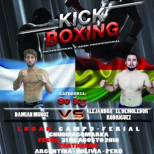 Damián Múñoz pelea el 31 de Agosto en Bolivia