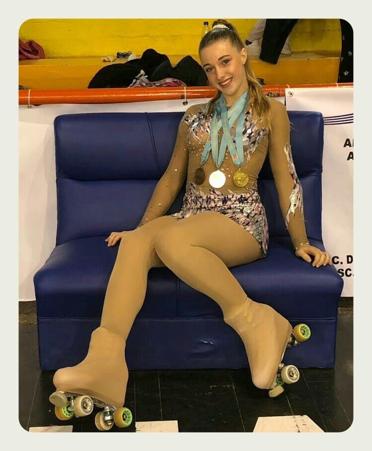 Serena Muñoz sumó Oro, Plata y Bronce en el Campeonato Internacional de Uruguay