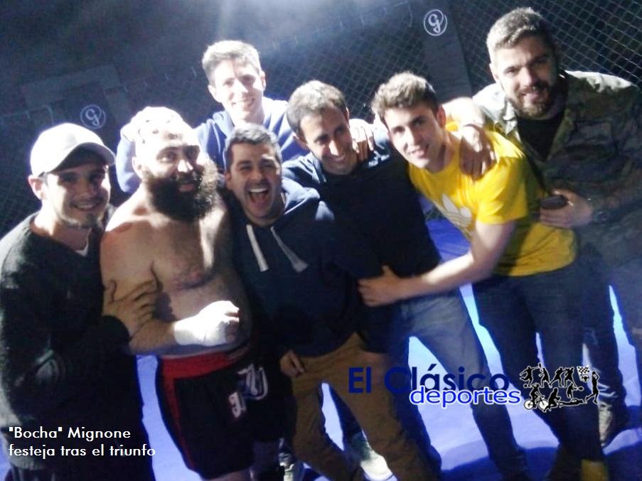 MMA en San Pedro: Mignone le pegó hasta con la «bocha». Perdió Ojeda