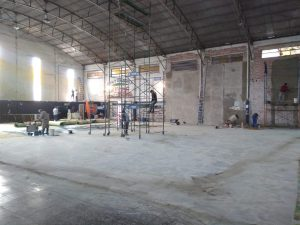 Avanzan las obras en el gimnasio de Paraná FC