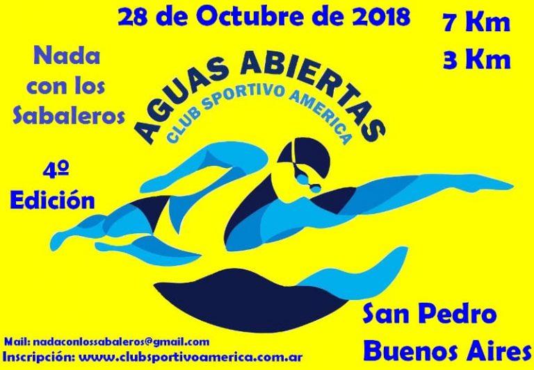 El domingo Sportivo América organiza prueba de aguas abiertas