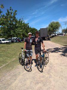 Alejandro Domenge y Juan Yañez participaron del Ironman 70.3 en Nordelta