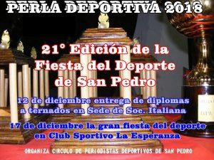 El Círculo de Periodistas Deportivos ya está organizando la 22° entrega de la Perla Deportiva
