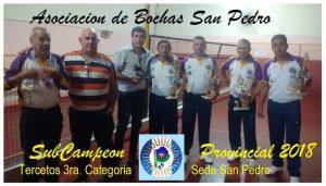 Bochas: San Pedro fue subcampeón Provincial