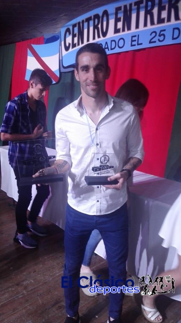 Andrés Franzoia recibió la distinción al Deportista del Año en Zárate