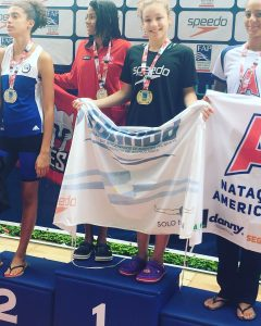 Candela Raviola medalla de Oro y Bronce; Pedro Adrover medalla de Bronce en el Torneo Paulista