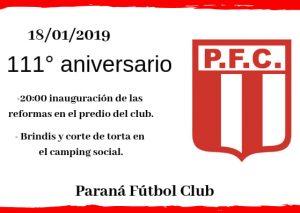 Paraná inaugura obras en su predio deportivo. Paraná FC y su historia..