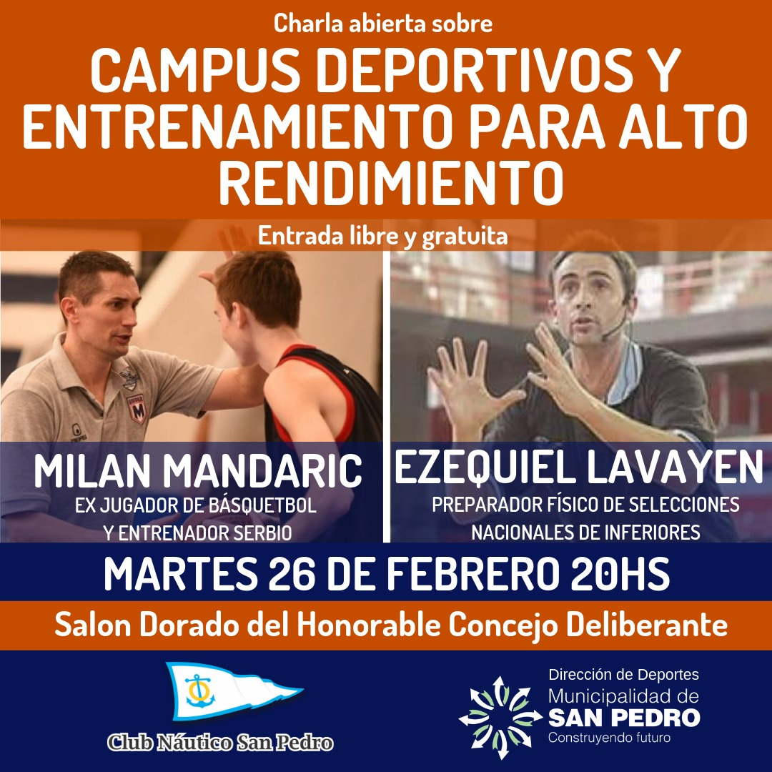 Charla abierta de Milan Mandaric y Ezequiel Lavayén en la Municipalidad