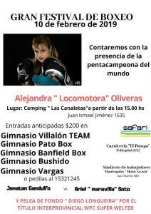 Se anuncia para el domingo un festival de boxeo con presencia de Alejandra Oliveras