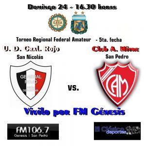 Torneo Regional Amateur: Lucas Cavallero será el árbitro en Gral. Rojo