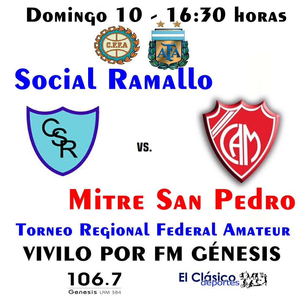 ¡El fútbol regional se vive y se siente por FM Génesis!