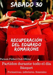 Paraná FC reinaugura su mítico gimnasio «Eduardo Romairone»