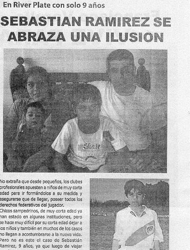 Sebastián Ramírez: El Clásico Deportes lo destacó con sólo 9 años