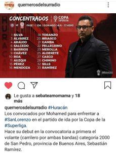 ¡Sebastián Ramírez confirmado entre los concentrados!