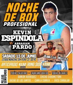 Boxeo: Kevin Espíndola y Damián Muñoz estarán en la misma velada