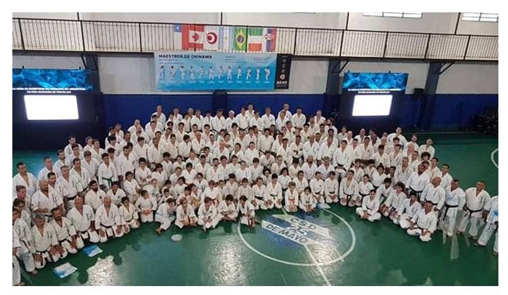 El Dojo del Club Mitre en Seminario dictado por doce maestros Okinawewnses