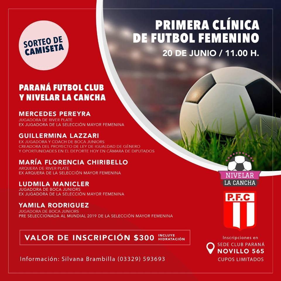 Se realiza una clínica de fútbol femenino en Paraná FC