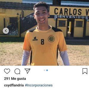 Francisco Nouet firmó con Flandria, tal el adelanto de El Clásico Deportes