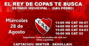 Independiente prueba jugadores en San Pedro