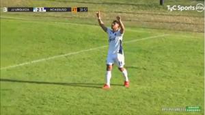 Alejandro Monzón debutó convirtiendo un gol en Acassuso.
