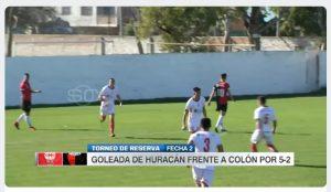 Mira los goles de Ramírez en la reserva de Huracán