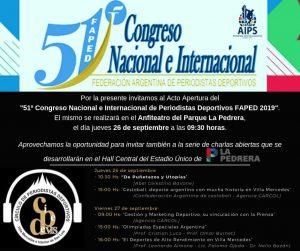 San Pedro estará presente en el 51° Congreso Nacional de la Federación de Periodistas Deportivos