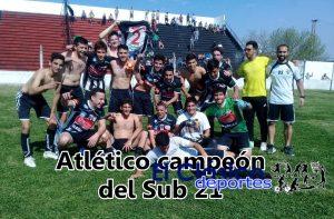 Atlético campeón del Sub 21