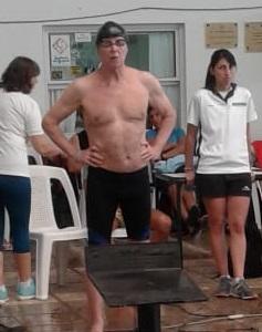 Juan Gazzolo en la cat. 80 años, alcanzó récords argentino y sudamericano