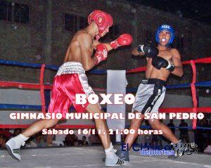 Boxeo amateur: Doble fondo en el Gimnasio Municipal