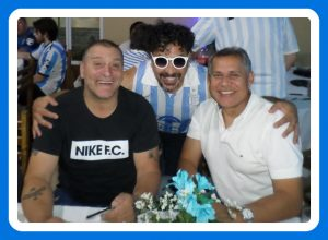 La Filial Racing de San Pedro realizó una cena con presencia de Rubén Paz y el Turco García