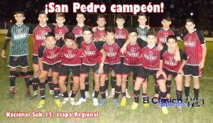 Nacional de Selecciones Sub 15: San Pedro se coronó campeón de la etapa Regional