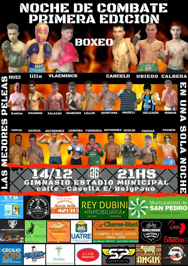 El sábado gran festival de boxeo en el gimnasio municipal