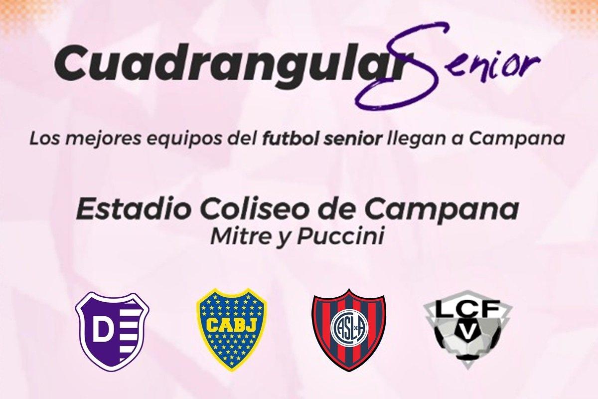 Los veteranos de Boca, San Lorenzo y V. Dálmine juegan en Campana