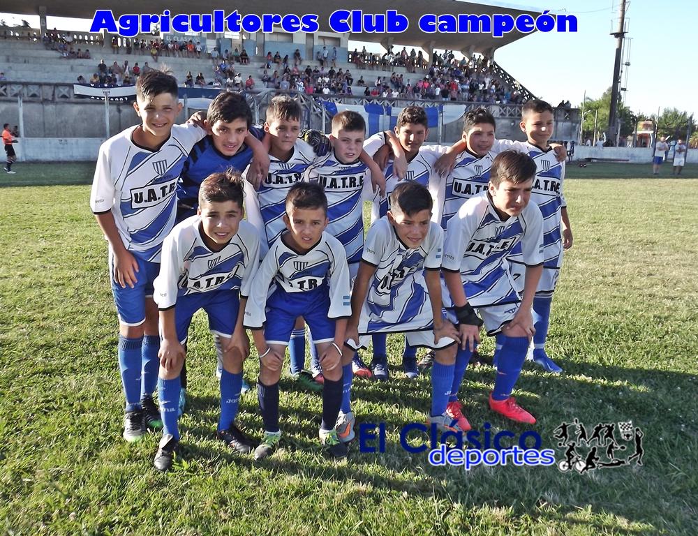 Agricultores se coronó campeón del infanto juvenil