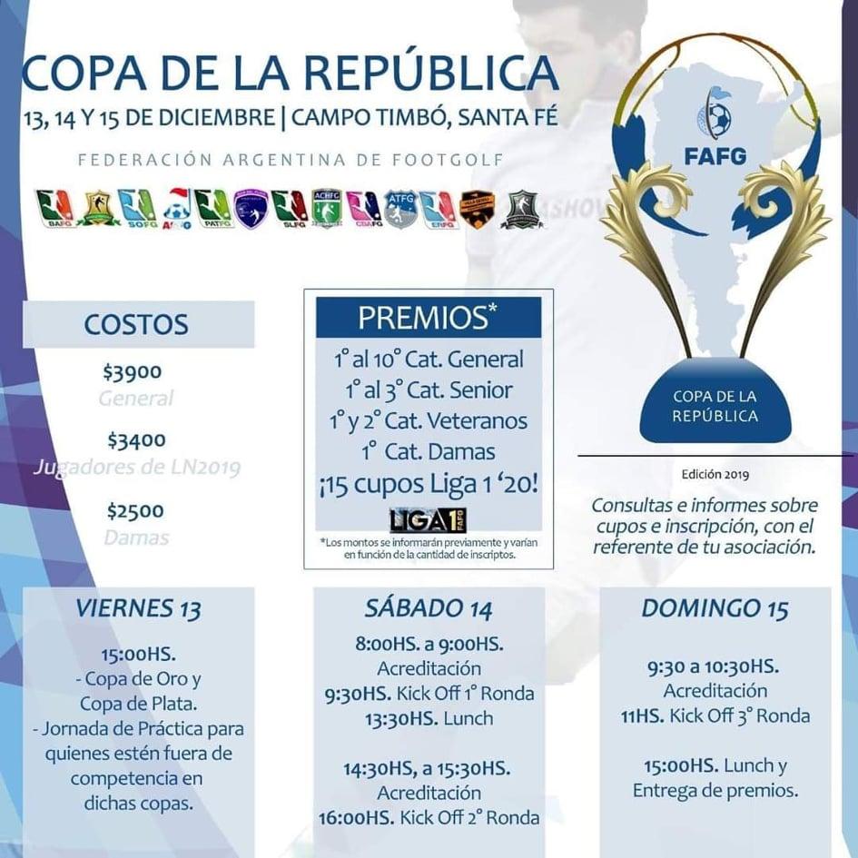 Sampedrino estará en la Copa de la Republica de Footgolf