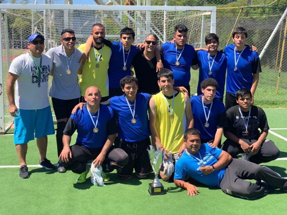 Rosell de San Isidro Campeón de la Liga Nacional de fútbol para ciegos.