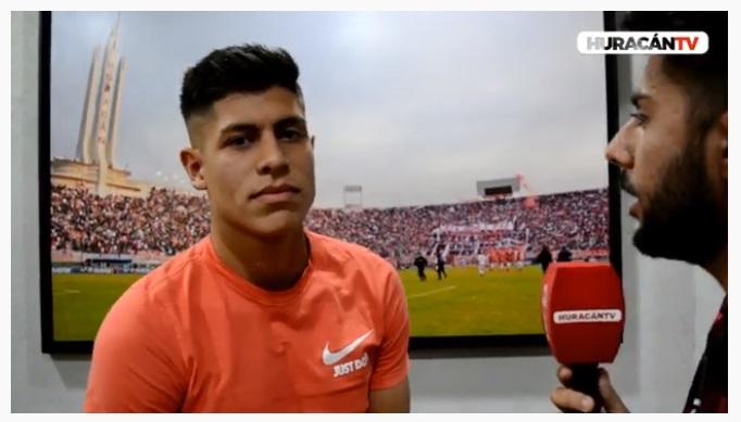 Sebastián Ramírez  en la pretemporada de Huracán