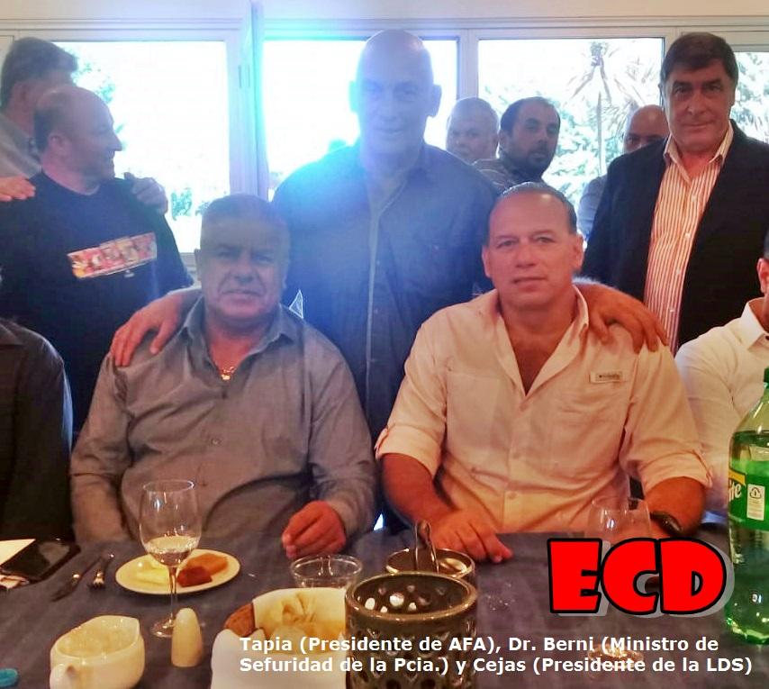 Hugo Cejas participó de una reunión con el Presidente de AFA y el Ministro de Seguridad Bonaerense