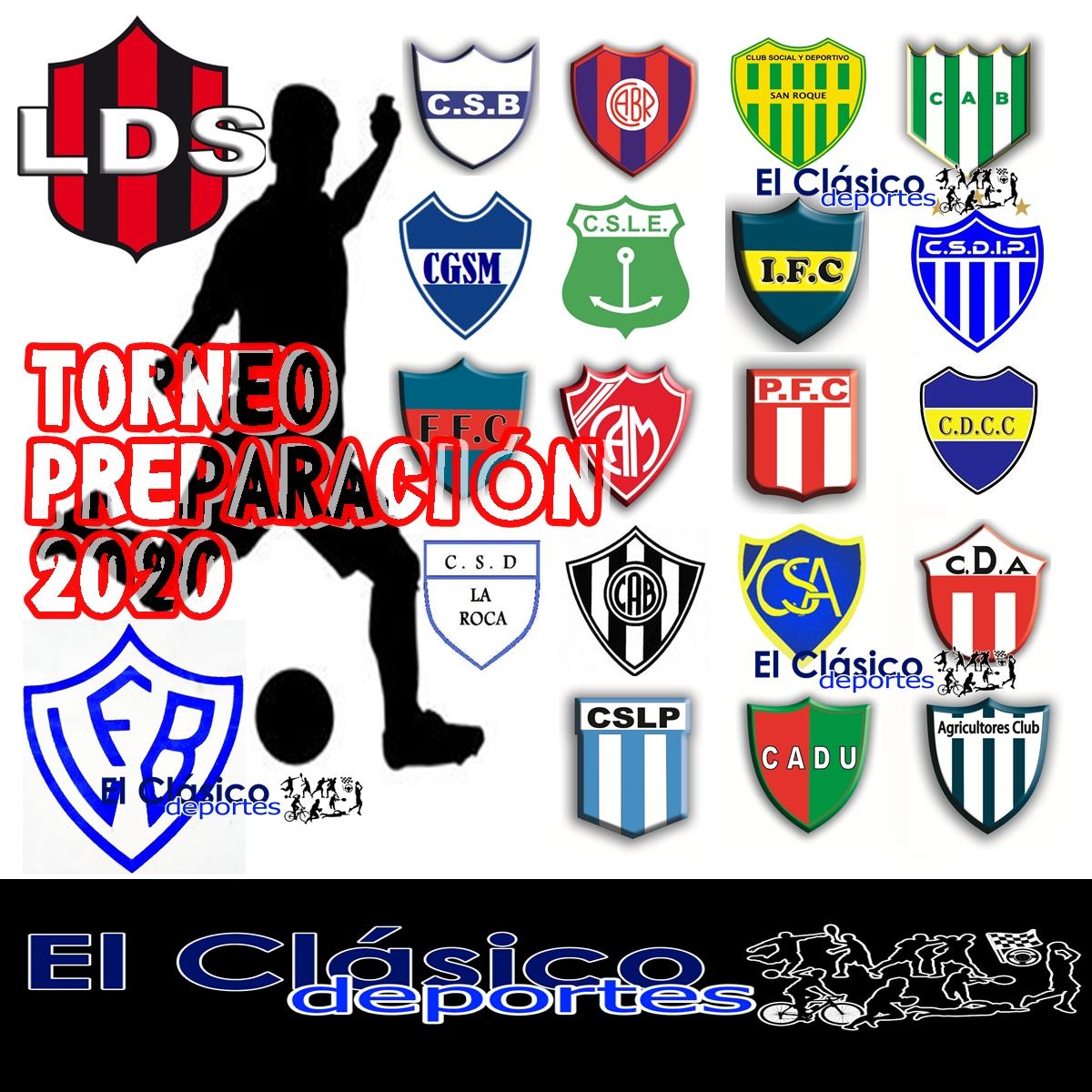 Fútbol local: El fixture del Torneo Preparación 2020