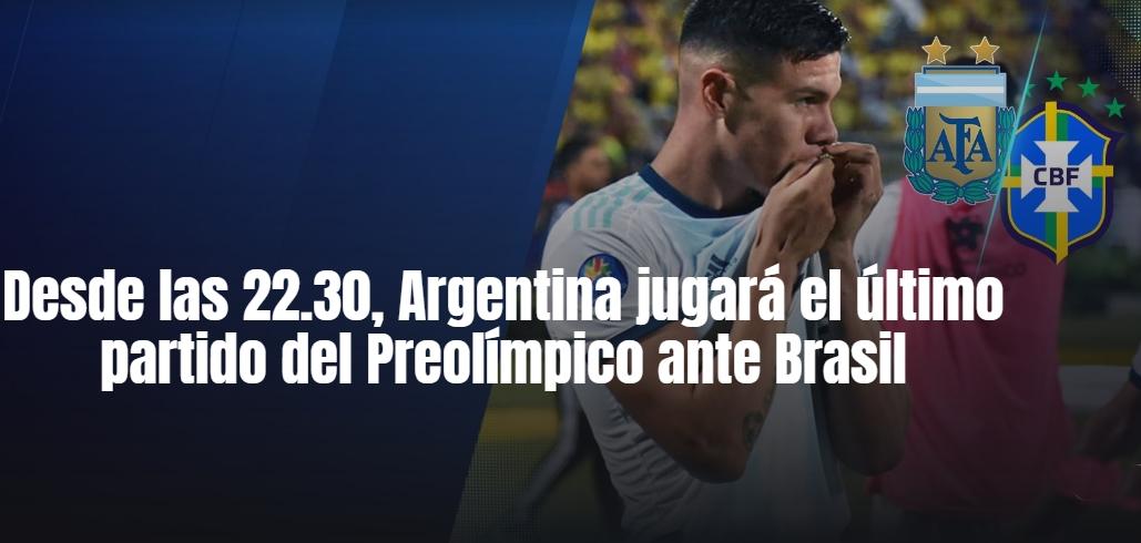 Sub 23: Argentina campeón y clasificado a Tokio 2020 enfrenta a Brasil