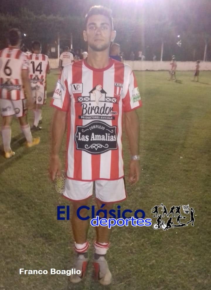 Victoria y clasificación con tres goles de Franco Boaglio