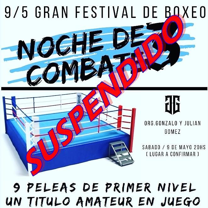 #Coronavirus: Gala de boxeo suspendida